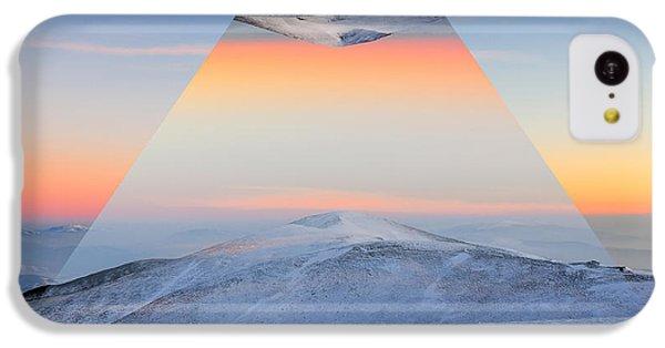 Beautiful Sunrise iPhone 5c Case - Winter Mountain Landscape At Sunset by Volodymyr Burdiak