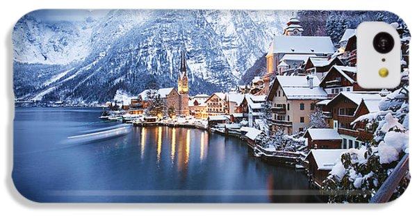 Beautiful Sunrise iPhone 5c Case - Winter View Of Hallstatt, Traditional by Dzerkach Viktar
