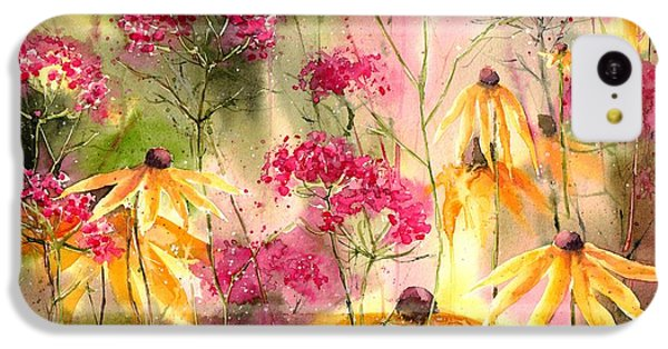 Orchid iPhone 5c Case - Yellow Ballerinas by Suzann's Art