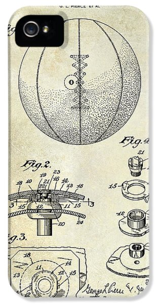 1927 Basketball Patent Drawing IPhone 5s Case