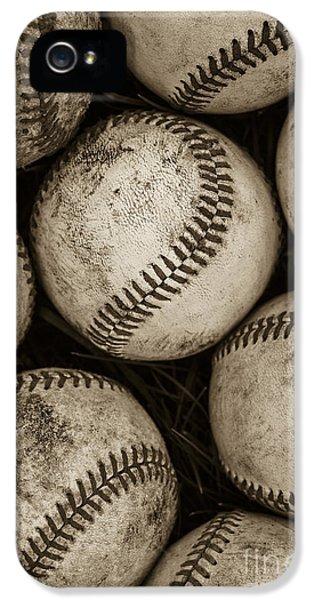 Baseball iPhone 5s Case -  Baseballs by Diane Diederich