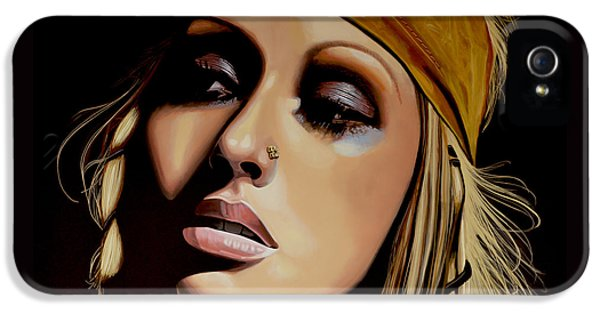 Christina Aguilera Painting IPhone 5s Case by Paul Meijering