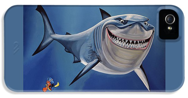 Sharks iPhone 5s Case - Finding Nemo Painting by Paul Meijering
