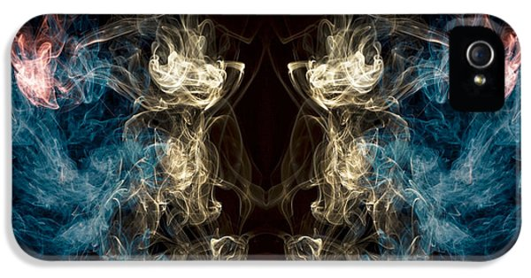 Minotaur iPhone 5s Case -  Minotaur Smoke Abstract by Edward Fielding