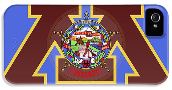University Of Minnesota iPhone 5s Case -  U Of M Minnesota State Flag by Daniel Hagerman