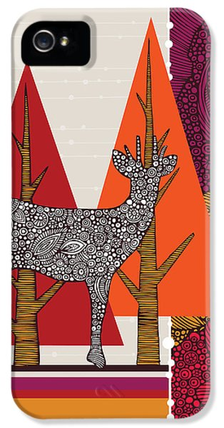 A Deer In Woodland IPhone 5s Case