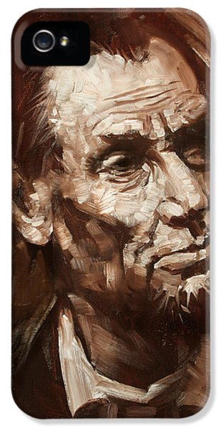 Abraham Lincoln IPhone 5s Case by Ylli Haruni