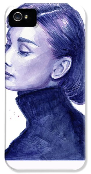 Audrey Hepburn Portrait IPhone 5s Case by Olga Shvartsur