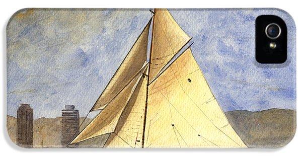 Classic Yacht Barcelona IPhone 5s Case by Juan  Bosco
