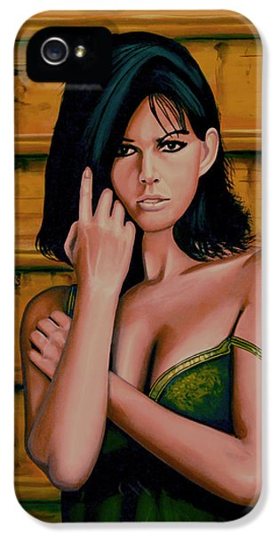 Claudia Cardinale Painting IPhone 5s Case