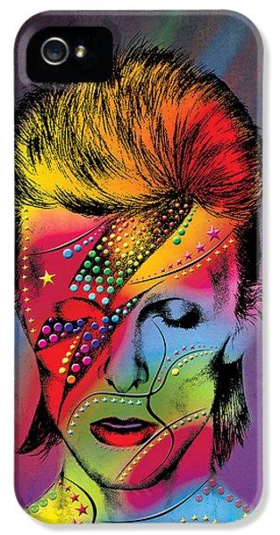 Elvis Presley iPhone 5s Case - David Bowie by Mark Ashkenazi