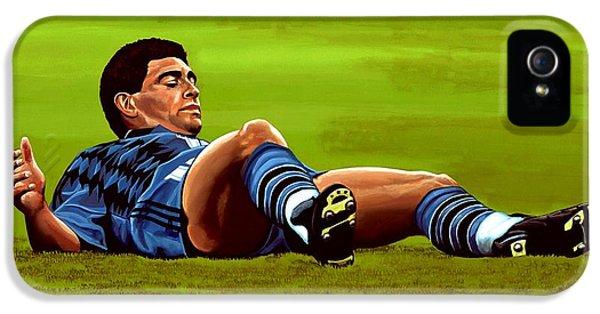 Diego Maradona 2 IPhone 5s Case by Paul Meijering