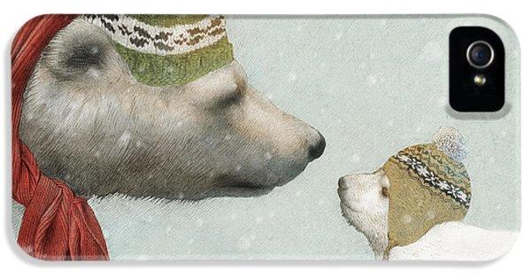 Polar Bear iPhone 5s Case - First Winter by Eric Fan