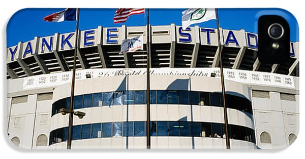 Flags In Front Of A Stadium, Yankee IPhone 5s Case by Panoramic Images