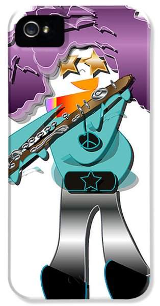 IPhone 5s Case featuring the digital art Flute Player by Marvin Blaine