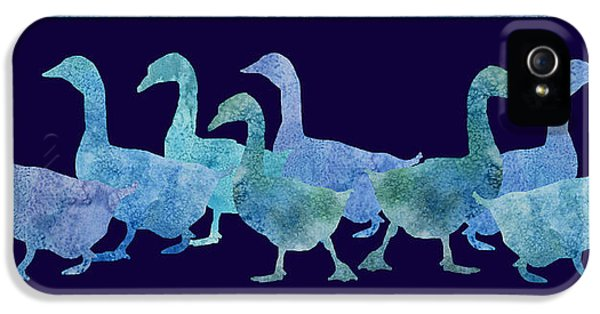 Geese Batik IPhone 5s Case by Jenny Armitage