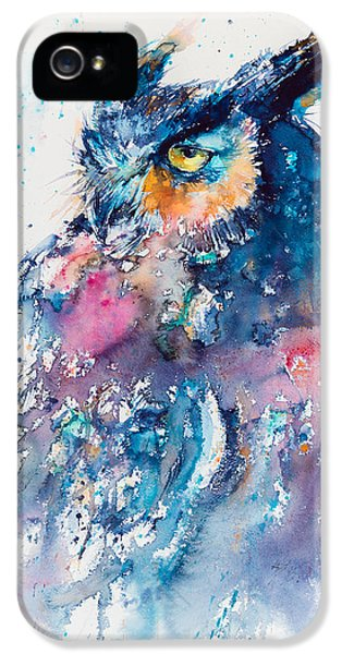 Great Horned Owl IPhone 5s Case by Kovacs Anna Brigitta