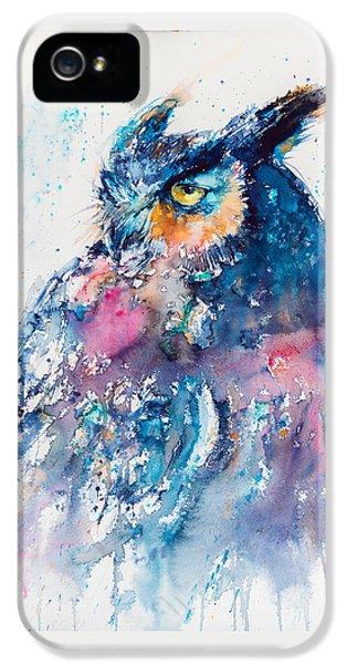 Owl iPhone 5s Case - Great Horned Owl by Kovacs Anna Brigitta
