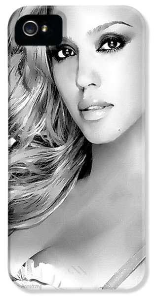 #1 Jessica Alba IPhone 5s Case by Alan Armstrong