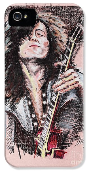 Jimmy Page IPhone 5s Case by Melanie D