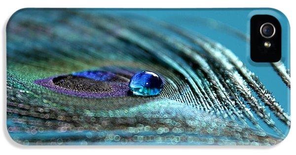 Peacock iPhone 5s Case - Liquid Blue by Krissy Katsimbras