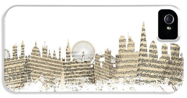 London England Skyline Sheet Music Cityscape IPhone 5s Case