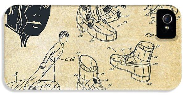 Michael Jackson Anti-gravity Shoe Patent Artwork Vintage IPhone 5s Case by Nikki Marie Smith