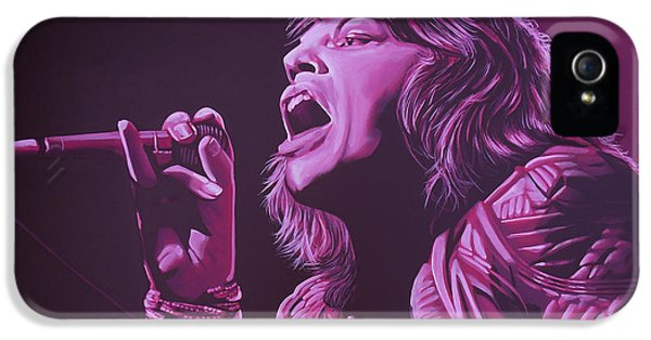 Rolling Stone Magazine iPhone 5s Case - Mick Jagger 2 by Paul Meijering