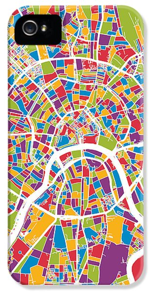 Moscow City Street Map IPhone 5s Case by Michael Tompsett