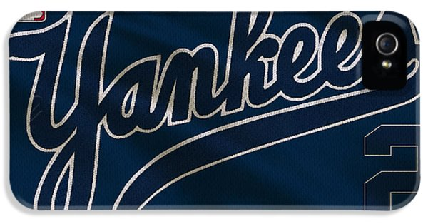 New York Yankees iPhone 5s Case - New York Yankees Derek Jeter by Joe Hamilton