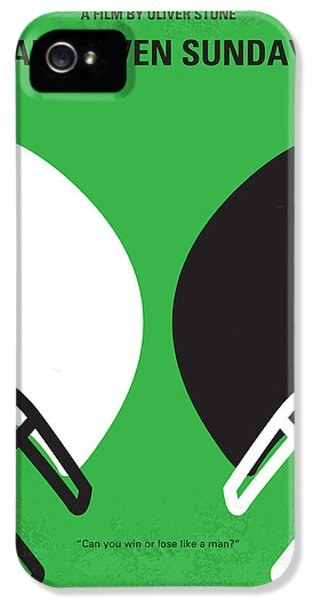 Football iPhone 5s Case - No420 My Any Given Sunday Minimal Movie Poster by Chungkong Art