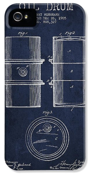 Drum iPhone 5s Case - Oil Drum Patent Drawing From 1905 by Aged Pixel
