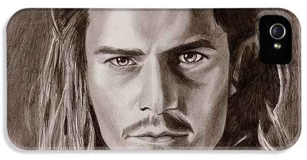 Orlando Bloom IPhone 5s Case by Michael Mestas