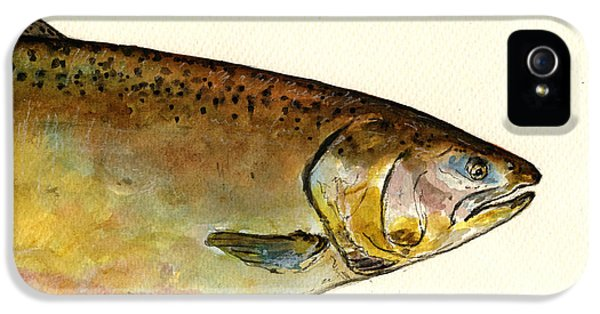 1 Part Chinook King Salmon IPhone 5s Case by Juan  Bosco