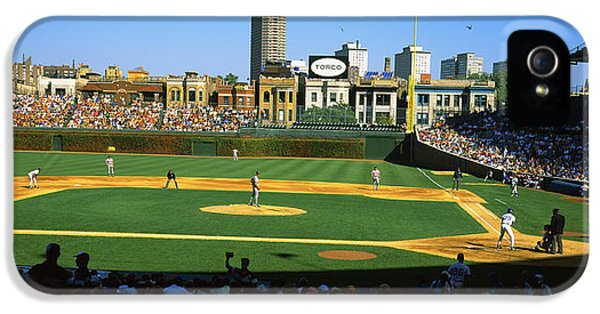 Spectators In A Stadium, Wrigley Field IPhone 5s Case by Panoramic Images