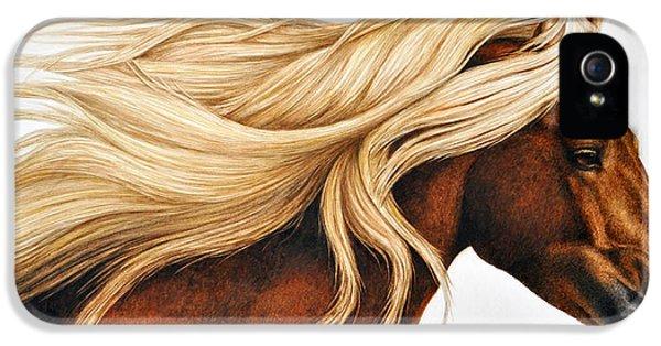 Horse iPhone 5s Case - Spun Gold by Pat Erickson