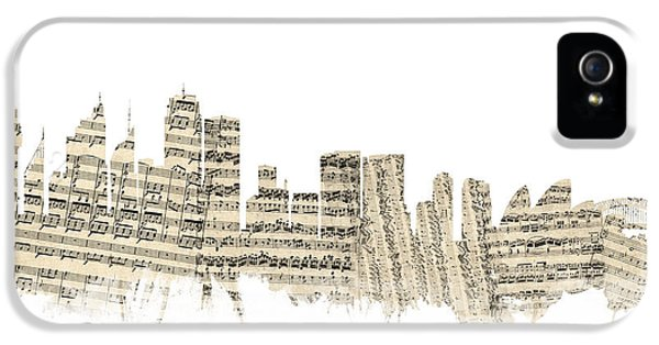 Sydney Australia Skyline Sheet Music Cityscape IPhone 5s Case