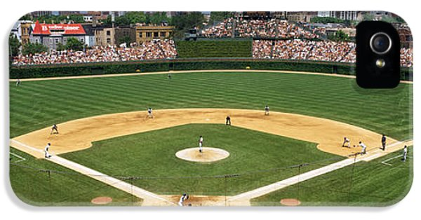 Usa, Illinois, Chicago, Cubs, Baseball IPhone 5s Case by Panoramic Images