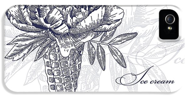 Etching iPhone 5s Case - Vector Flowers In Waffle Cone. Bouquet by Innakote