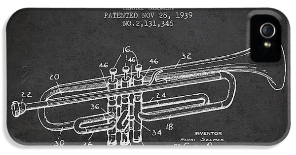 Vinatge Trumpet Patent From 1939 IPhone 5s Case by Aged Pixel