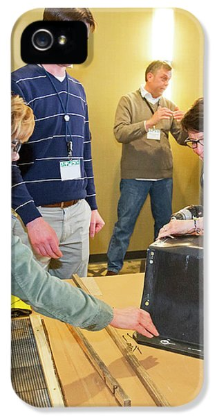 Volunteers Making Bat Houses IPhone 5s Case by Jim West