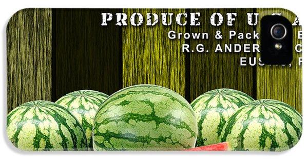 Watermelon iPhone 5s Case - Watermelon Farm by Marvin Blaine