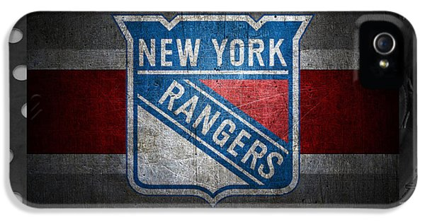 New York Rangers IPhone 5s Case by Joe Hamilton
