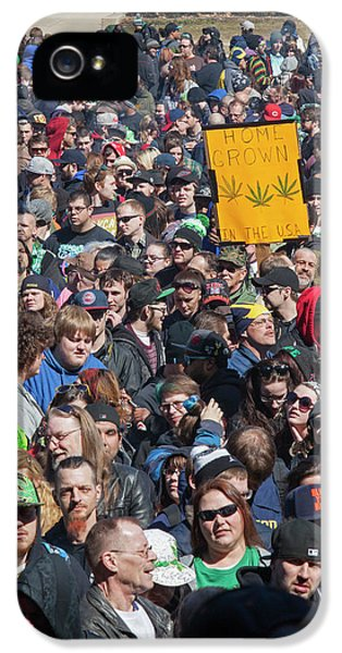 Legalisation Of Marijuana Rally IPhone 5s Case by Jim West