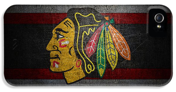 Chicago Blackhawks IPhone 5s Case by Joe Hamilton