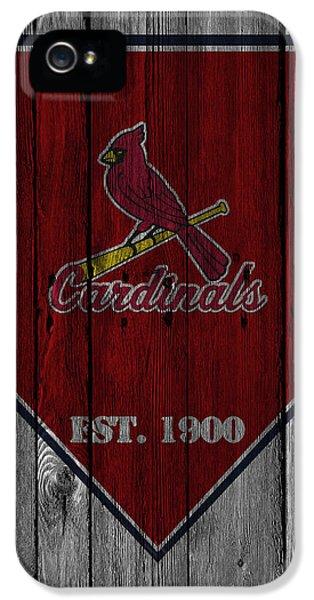 Cardinal iPhone 5s Case - St Louis Cardinals by Joe Hamilton