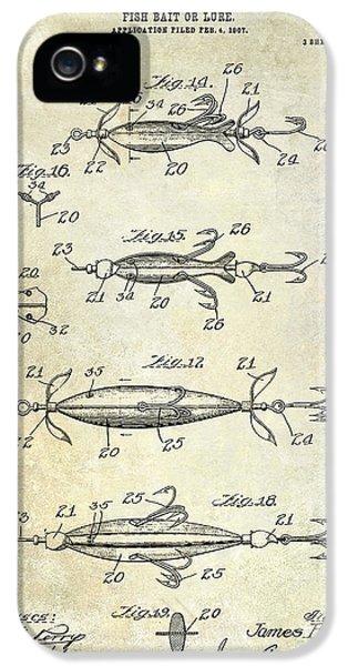 1907 Fishing Lure Patent IPhone 5s Case by Jon Neidert