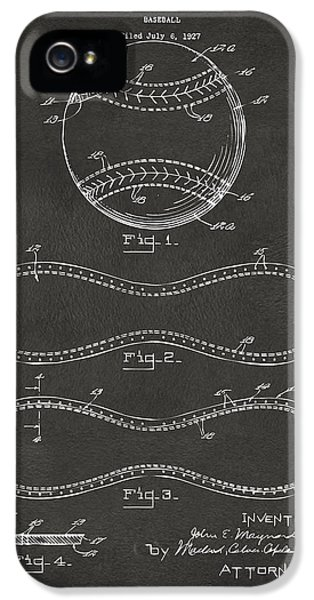 1928 Baseball Patent Artwork - Gray IPhone 5s Case