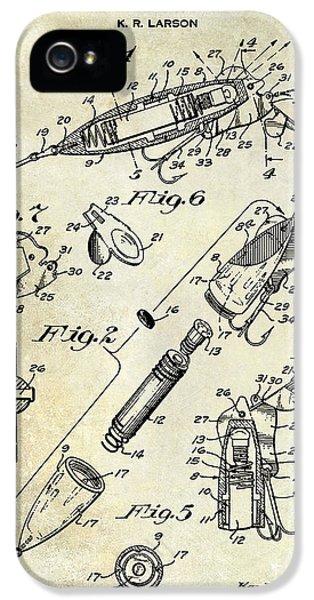 1940 Illuminated Bait Patent Drawing IPhone 5s Case