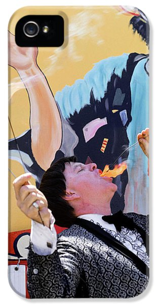 1970s Man In Tuxedo Performing Fire IPhone 5s Case
